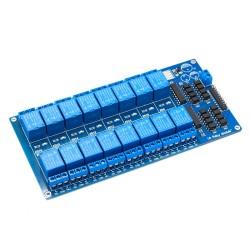 Módulo relé 12V de trigger bajo con regulador LM2596, 16 canales