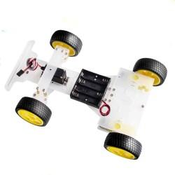 Kit de carro de 4 ruedas con dirección