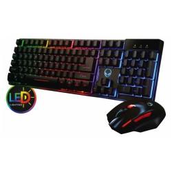Teclado y Mouse N.A para gaming con iluminación LED