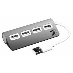 HUB USB 2.0 Green Leaf de 4 puertos