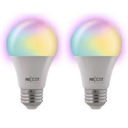 Bombilla LED inteligente Wi-Fi, de colores, 2 piezas