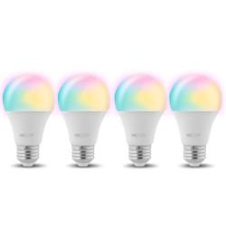 Bombilla LED inteligente Wi-Fi, de colores, 4 piezas