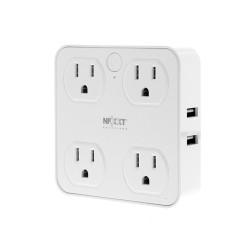 Enchufe y protector inteligente Wi-Fi, 4 enchufes y 4 USB