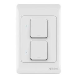Apagador de pared Wi-Fi de botón doble