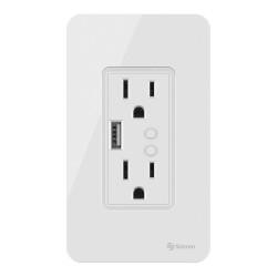 Tomacorriente Wi-Fi doble con USB