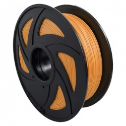 Filamento PLA+ brillante para impresora 3D, anaranjado