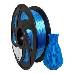Filamento PLA+ silk para impresora 3D, azul