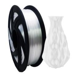 Filamento PLA+ silk para impresora 3D, blanco