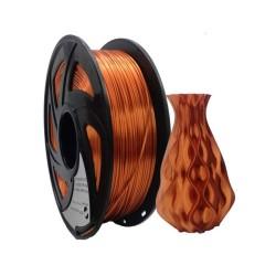 Filamento PLA+ silk para impresora 3D, cobre