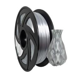 Filamento PLA+ silk para impresora 3D, plateado