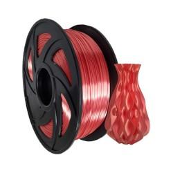 Filamento PLA+ silk para impresora 3D, rojo