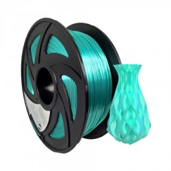 Filamento PLA+ silk para impresora 3D, verde