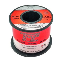 Carrete de estaño TMC de 0.8mm 60/40 - 200g con pasta 51