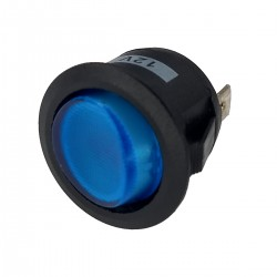 Switch ON OFF SPDT, con led azul redondo 10A 12V