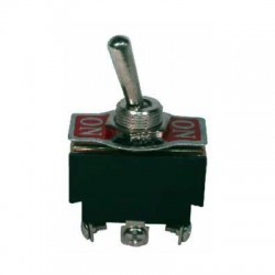 Switch toggle ON-OFF-ON de 3 pines, 15A 120V
