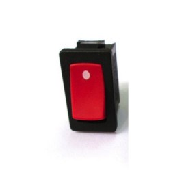 Switch ON OFF SPST, rojo rectangular 12A