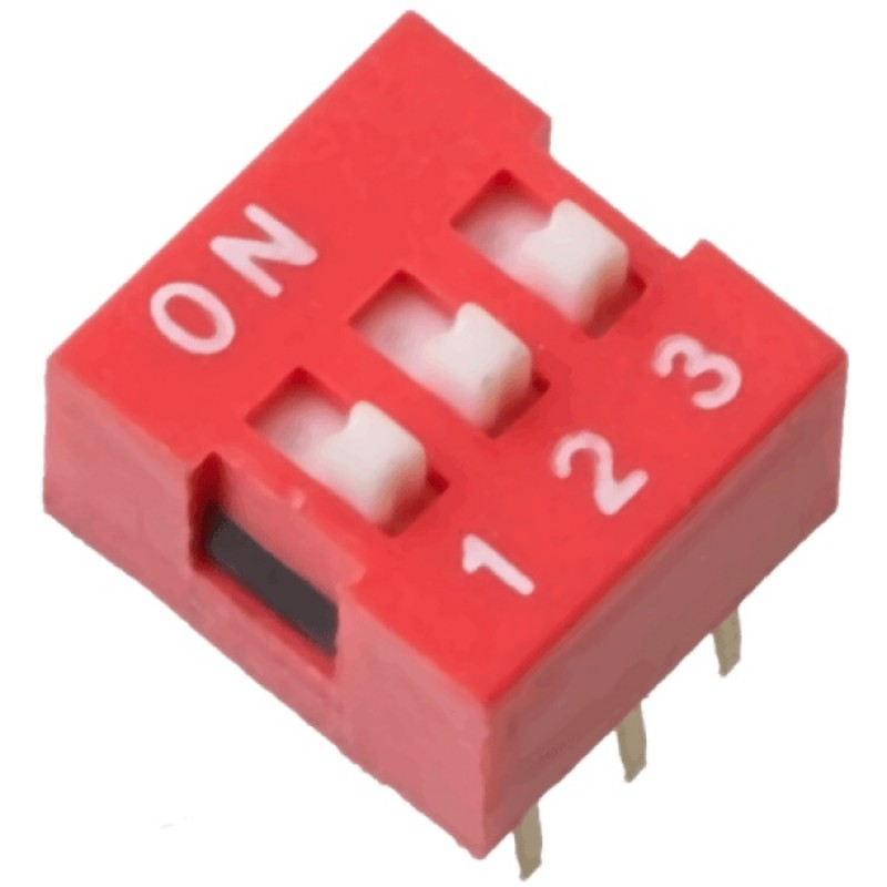 Switch Dip de 3 posiciones