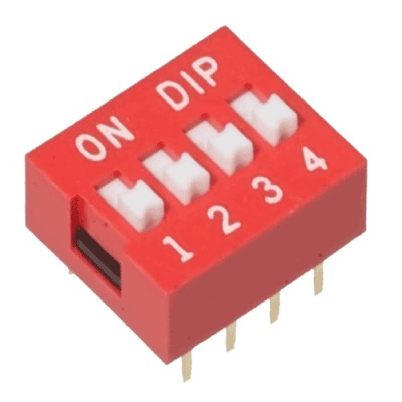 Switch Dip de 4 posiciones
