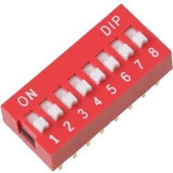 Switch Dip de 8 posiciones