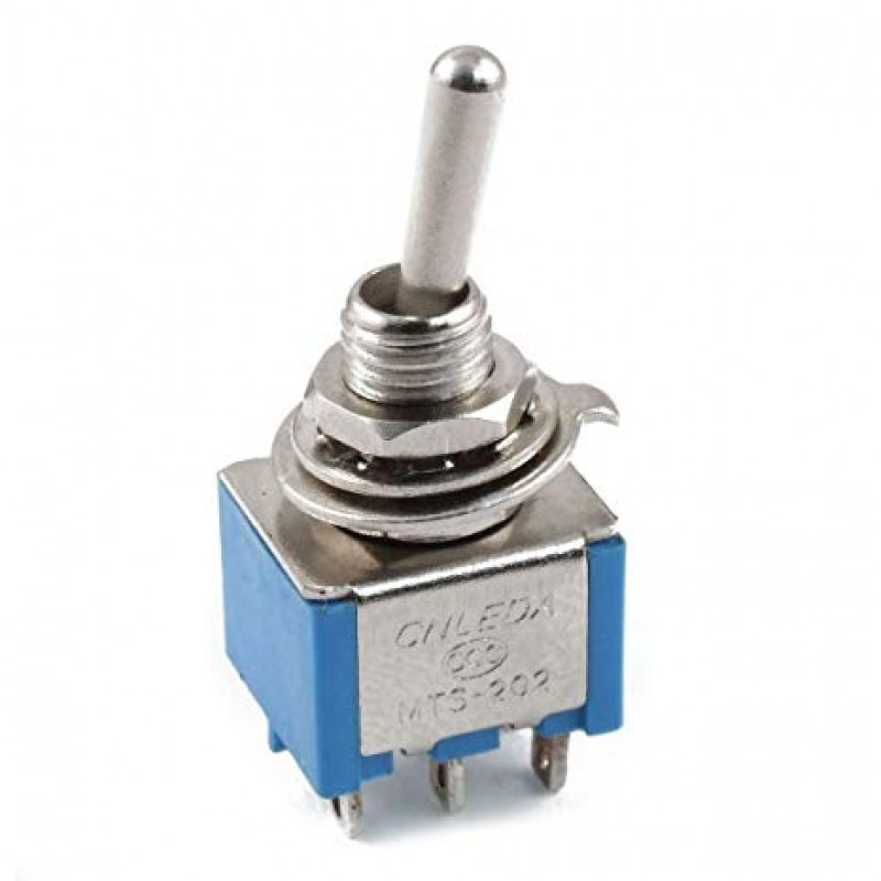 Switch Toggle DPDT, Azul 6A